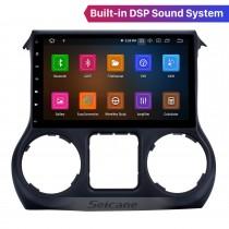 Android 11.0 Radio à écran tactile 10,1 pouces pour JEEP Wrangler 2011-2017 Musique Bluetooth Navigation GPS Prise en charge Carplay intégrée DAB + OBDII USB TPMS WiFi Commande au volant
