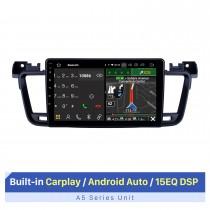 Écran tactile HD de 9 pouces pour lecteur DVD de voiture Autoradio Peugeot 508 2011-2017 avec commande au volant de soutien Wifi