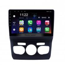 Écran tactile HD 10,1 pouces Android 10.0 Système de navigation GPS Radio Bluetooth pour 2013 2014 2015 2016 Citroen C4 LHD Prise en charge de la commande au volant DVR Caméra de recul WIFI OBD II