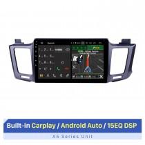 10,1 pouces Android 10.0 Radio de navigation GPS pour 2013-2016 Toyota RAV4 LHD avec écran tactile HD Carplay Bluetooth WIFI USB AUX Prise en charge OBD2
