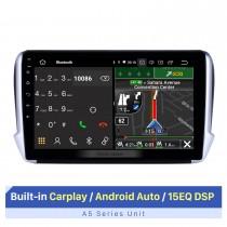 Écran tactile HD de 10,1 pouces pour 2014-2016 Peugeot 2008 système de navigation GPS Bluetooth autoradio Carplay système stéréo support sans fil Carplay