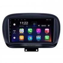 2014-2019 Fiat 500X Android 10.0 HD écran tactile 9 pouces AUX Bluetooth Réseau sans fil USB Navigation GPS Autoradio Soutien SWC Carplay