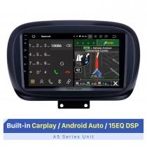 Écran tactile HD de 9 pouces pour 2014-2019 Fiat 500X Radio Bluetooth Autoradio Support de réparation d'autoradio Affichage à écran partagé