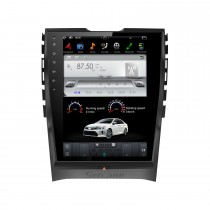 10,4 pouces Android 9.0 lecteur multimédia de voiture stéréo Sat pour 2015+ FORD EDGE Auto A / C système de navigation GPS avec support Bluetooth Carplay