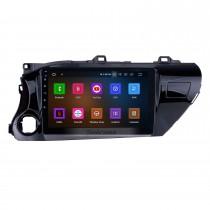 10,1 pouces Android 11.0 GPS Navi Radio pour 2016 2017 2018 Toyota Hilux Pilote main gauche avec WIFI AUX USB support Bluetooth 4G Caméra de recul DVD OBD2
