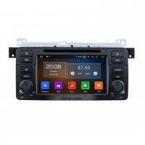 7 pouces Android 10.0 Radio de navigation GPS pour 1998-2006 BMW Série 3 E46 M3 avec écran tactile HD Carplay Bluetooth Music USB support Mirror Link Caméra de recul
