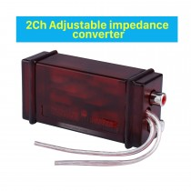 Audio 2Ch Adjustable High Level to Low Level Adapter Impedance Converter Capacitor