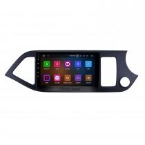 9 pouces Android 11.0 Système de navigation GPS Radio pour 2011-2014 Kia Morning RHD Lien miroir HD 1024 * 600 écran tactile OBD2 DVR Caméra de recul TV 1080P Vidéo 3G WIFI Commande au volant Bluetooth USB