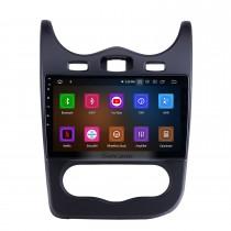 Android 11.0 Pour 2014 Renault Sandero Radio 10.1 pouces Système de navigation GPS Bluetooth HD Écran tactile Carplay support SWC