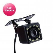 Caméra de recul de voiture HD avec 12 lumières LED Kit de moniteur de sauvegarde de stationnement inversé CCD CMOS