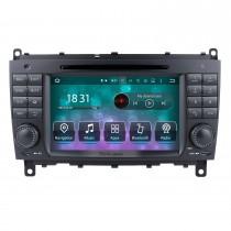 2006 2007 2008 Mercedes-Benz CLS W219 Android 10.0 Système de navigation GPS Radio Lecteur DVD Écran tactile TV IPOD HD 1080P Caméra de recul vidéo Commande au volant USB SD Bluetooth WiFi