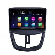 9 pouces Android 10.0 pour 2008 2009 2010-2014 Peugeot 207 Radio avec écran tactile HD Navigation GPS prend en charge Carplay DAB + OBD2