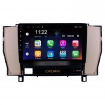 9 pouces Android 10.0 Système de navigation GPS Radio à écran tactile Pour 2010-2014 Toyota vieille couronne LHD Bluetooth PMS DVR OBD II USB caméra arrière Contrôle au volant