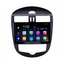 10,1 pouces Android 10.0 Radio pour 2011-2014 Nissan Tiida Auto A / C Bluetooth WIFI HD à écran tactile GPS Navigation support Carplay caméra arrière