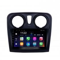 Écran tactile HD 9 pouces Android 10.0 Radio de navigation GPS pour 2012-2017 Renault Dacia Sandero avec prise en charge Bluetooth AUX Carplay TPMS