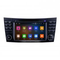 7 pouces Android 10.0 Radio de navigation GPS 2002-2008 Mercedes Benz W211 Bluetooth HD Écran tactile AUX WIFI Carplay support Caméra de recul