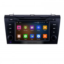 7 pouces Android 10.0 Radio de navigation GPS pour Mazda 3 2007-2009 avec écran tactile HD Carplay Bluetooth WIFI support OBD2 1080P DVR