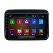 OEM 9 pouces Android 10.0 Radio pour 2016-2019 Suzuki Ignis Bluetooth Wifi HD Navigation GPS à écran tactile Carplay support USB OBD2 TV numérique TPMS DAB +