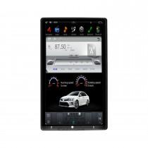 13,6 pouces Android 9.0 lecteur multimédia de voiture stéréo Sat pour système de navigation GPS universel à panneau avant réglable avec support Bluetooth Carplay