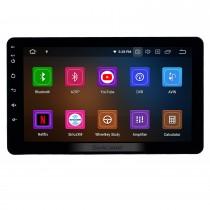 8 pouces radio universelle Android 10.0 avec navigation GPS Bluetooth HD écran tactile prise en charge de la musique AUX Carplay 1080p vidéo numérique TV commande au volant