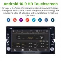 6.2 pouces Navigation GPS Radio Universelle Android 10.0 Bluetooth HD Écran Tactile AUX Carplay Musique support 1080P Vidéo TPMS TV Numérique
