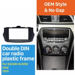 Mejor Panel de Doble Din 2015 Suzuki Alivio Radio Ciaz coche Fascia DVD Marco soporte para tablero Juego de acabados