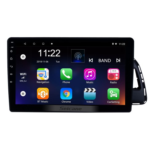 10.1 pulgadas Android 8.1 Radio de navegación GPS con pantalla táctil HD para 2010-2017 Audi Q5 con Bluetooth USB WIFI AUX compatible DVR SWC 3G Carplay Rearview Camera OBD