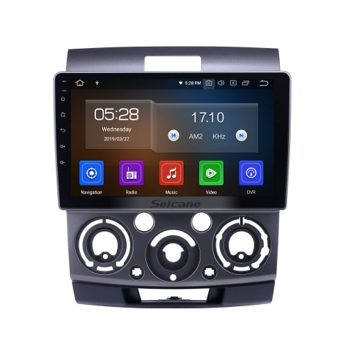 Android 9.0 Radio de navegación GPS de 9 pulgadas para Ford Everest / Ranger Mazda BT-50 2006-2010 con pantalla táctil HD Carplay Soporte Bluetooth Bluetooth TV digital