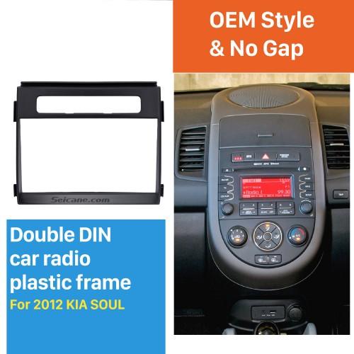 173 * 98 mm 2Din 2012 Kit de instalación KIA SOUL trama de radio del coche DVD de la fascia del ajuste del adaptador de montaje de audio