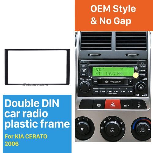 173 * 98 mm Doble Din Radio del coche Fascia para 2006 KIA CERATO placa frontal DVD Frame Panel Dash Mount Kit Adaptador