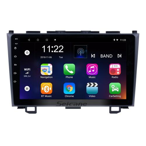 2006 2007 2008-2011 Honda CRV 9 pulgadas Android 10.0 HD Pantalla táctil Radio Navegación GPS Bluetooth USB WIFI OBD2 Cámara de espejo retrovisor Enlace espejo