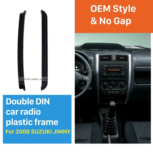 173 * 98/178 * 102 mm Doble Din 2008 Suzuki Jimmy radio de coche de la fascia DVD Placa de fijación del marco de la cara