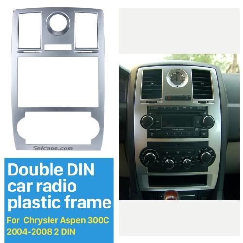 Seicane Double Din Car Radio Fascia for 2004 2005 2006 2007 2008 Chrysler Aspen 300C DVD Frame CD Player Trim Panel