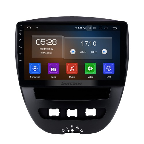 10.1 pulgadas 2005-2014 Peugeot 107 Android 10.0 Navegación GPS Radio Bluetooth HD Pantalla táctil AUX Carplay Música compatible 1080P Video TV digital Cámara trasera