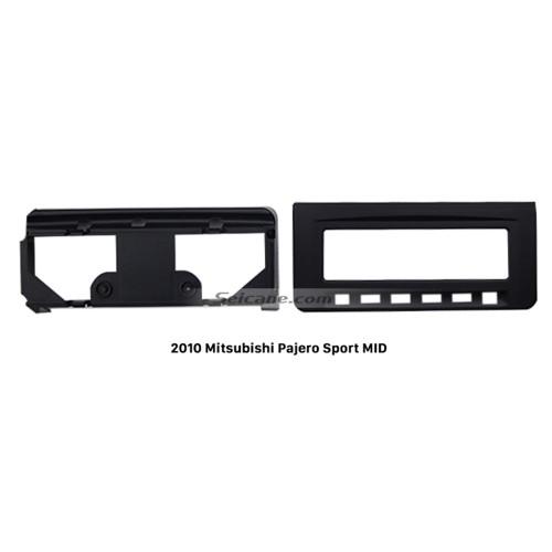 Plástico popular de 2010 Mitsubishi Pajero Sport MID radio de coche de la fascia Audio DVD marco reproductor Panel adaptador