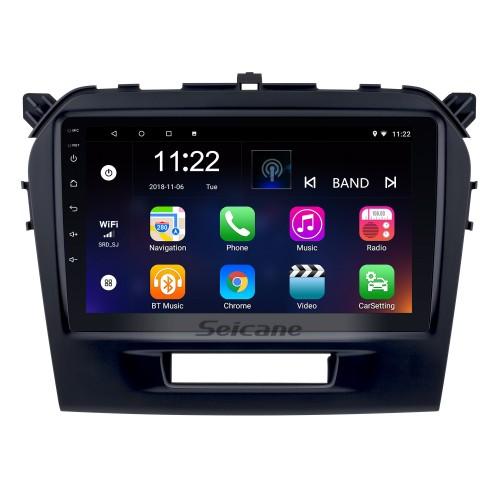 Pantalla táctil HD de 9 pulgadas Android 10.0 2015 2016 SUZUKI VITARA Radio Bluetooth Navegación GPS Estéreo para automóvil con OBD2 WIFI Cámara de respaldo Enlace espejo Control del volante