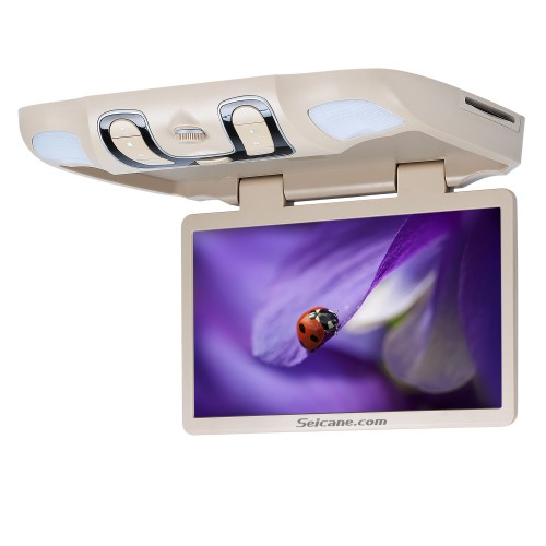 Hot Selling 15.6 inch Universal Overhead Slot-in Roof Mount DVD Player Remote Control Multi OSD Languages Support FM IR Transmitter USB SD Input Games 8GB External Memory