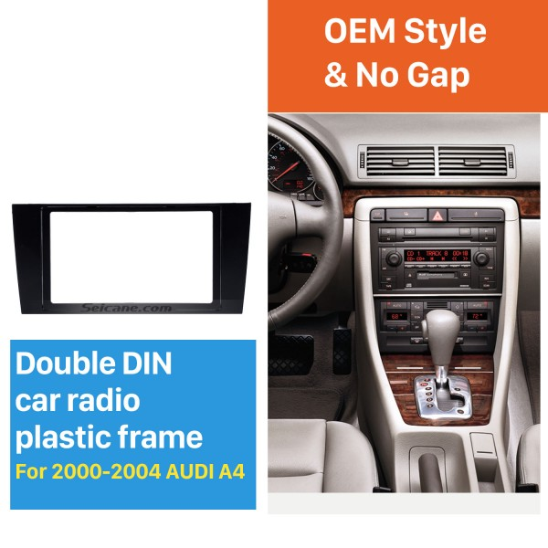 173 * 98 mm 2Din 2000 2001 2002 2003 2004 Audi A4 Car Radio Fascia Panel Face Plate Trim Installation Dash Mount frame