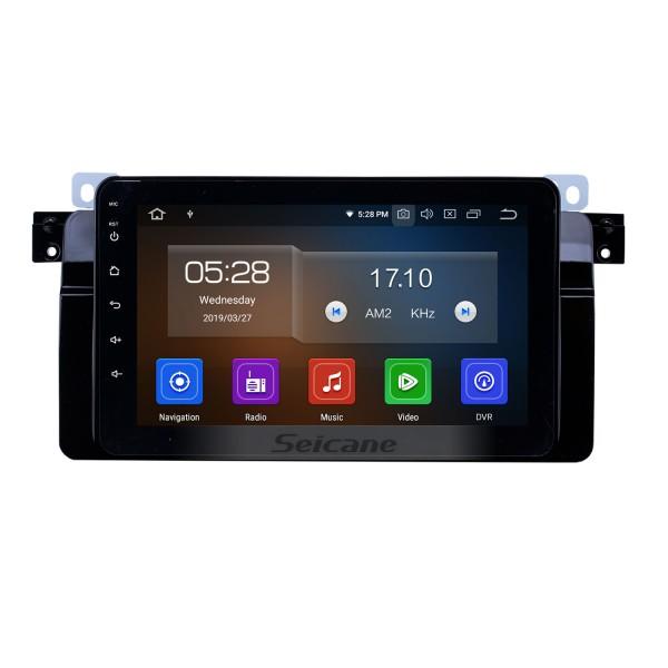 Pantalla táctil HD Radio de navegación GPS Android 10.0 de 8 pulgadas para 1998-2006 BMW Serie 3 E46 M3 / 2001-2004 MG ZT / 1999-2004 Rover 75 con Carplay Bluetooth compatible con TPMS