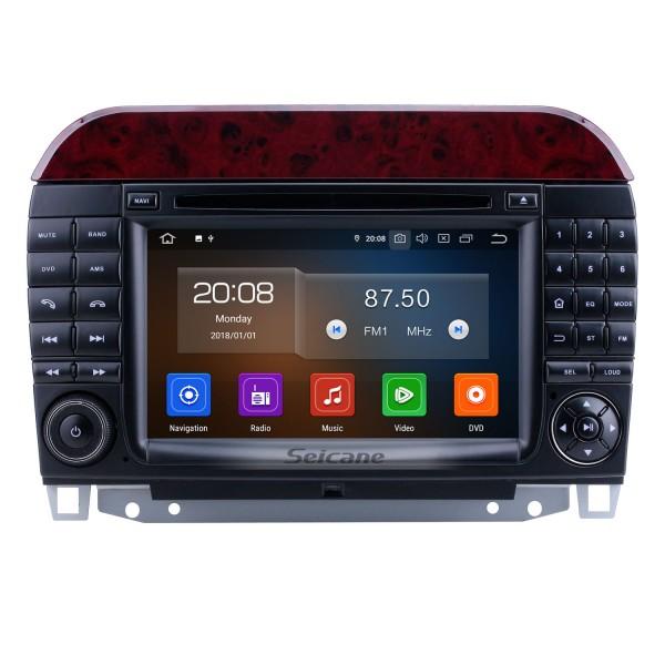 Android 10.0 1998-2005 Mercedes Benz S Class W220 / S280 / S320 / S320 CDI / S400 CDI / S350 / S430 / S500 / S600 / S55 AMG / S63 AMG / S65 AMG Radio de navegación GPS con pantalla táctil HD de 7 pulgadas con Carplay Soporte Bluetooth Bluetooth DVR
