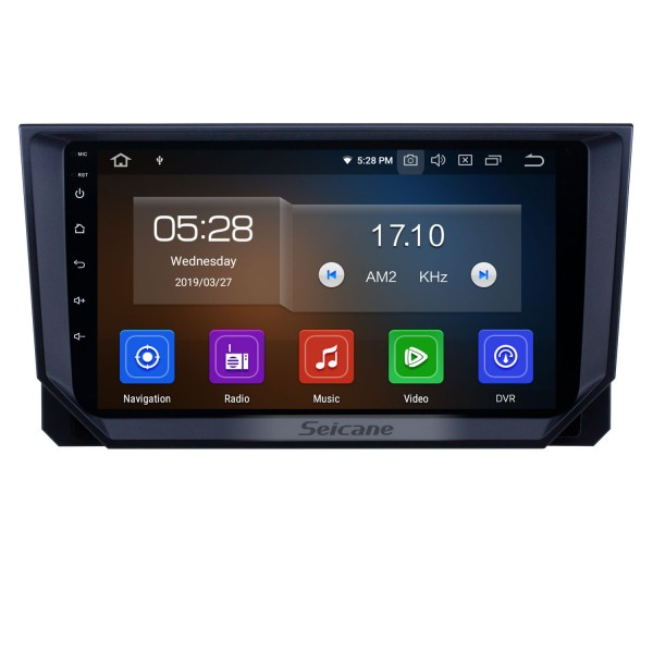 Android 9.0 Radio de navegación GPS de 9 pulgadas para 2018 Seat Ibiza con pantalla táctil HD Carplay USB Bluetooth compatible DVR OBD2 TV digital