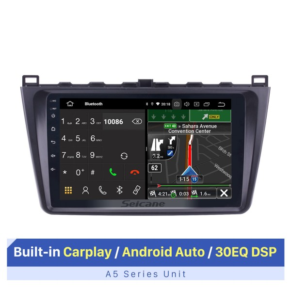 Android 10.0 2008-2015 Mazda 6 Rui Wing Radio Sistema de navegación GPS con HD 1024 * 600 Pantalla táctil Bluetooth TPMS OBD DVR Cámara de vista trasera TV USB 3G WIFI CPU Quad Core