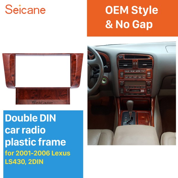 Fantástica Doble Din 2001 2002 2003 2004 2005 2006 Lexus LS430 radio de coche de la fascia del panel de DVD Equipo de tablero de montaje del marco