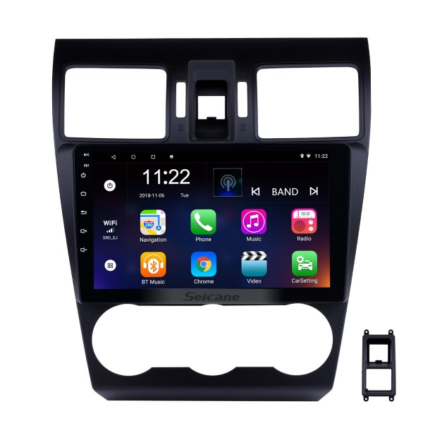 9 Inch Android 4.2 Bluetooth Radio For 2012 2013 2014 Subaru Forester with 3G WiFi GPS Navigation system TPMS DVR OBD II Rear camera AUX Headrest Monitor Control USB SD Video 3G WiFi Capacitive Touch Screen