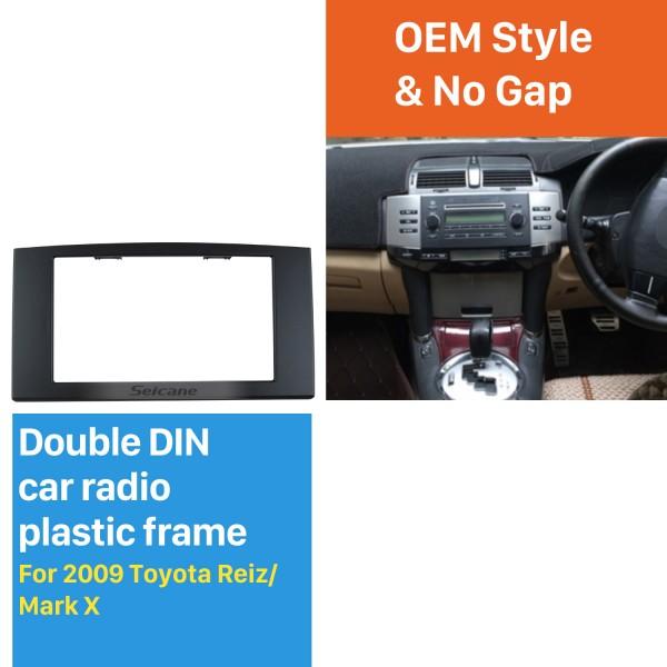 173 * 98 mm Doble Din 2005-2009 Toyota Reiz Marcos de radio del coche de X Fascia Auto Marco de DVD estéreo En el equipo de montaje de la rociada