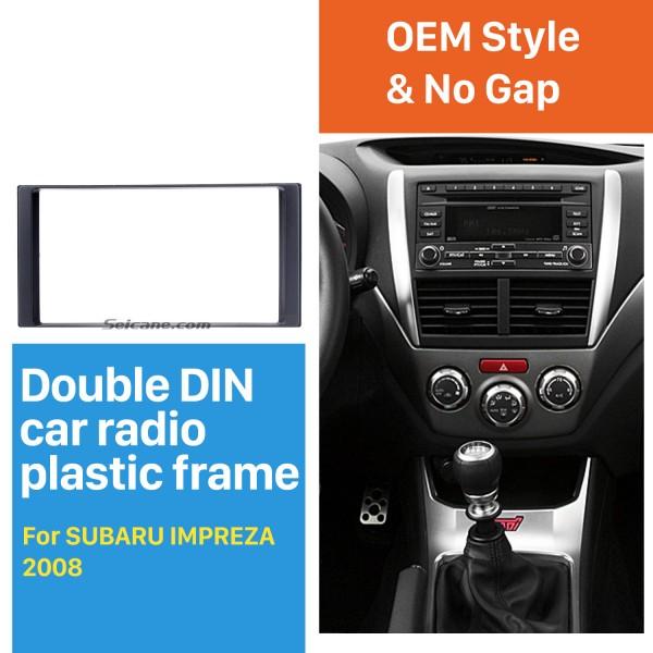 173 * 98 mm Doble Din Radio de coche Fascia para 2008-2013 Subaru Impreza Trim Panel Kit de instalación Adaptador de montaje de marco de audio