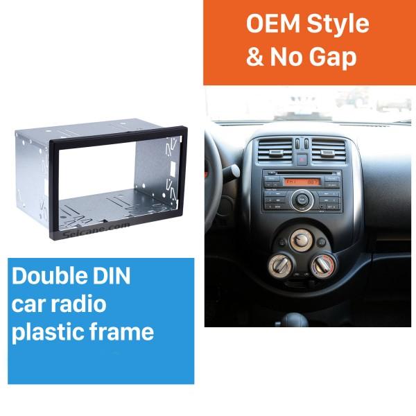 173 * 98mm Doble Din Universal Car Radio Fascia Kit de instalación Stereo Frame Panel Dash Kit