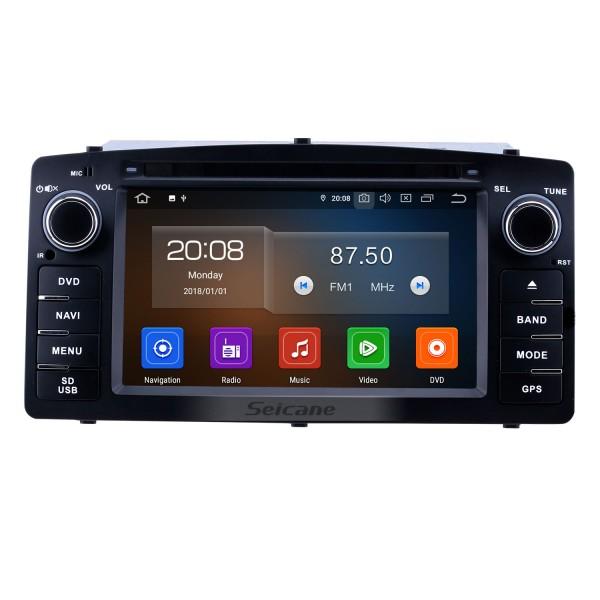 Radio de navegación GPS Android 10.0 de 6.2 pulgadas para Toyota Corolla E120 BYD F3 2003-2012 con pantalla táctil HD Carplay Bluetooth compatible con TPMS