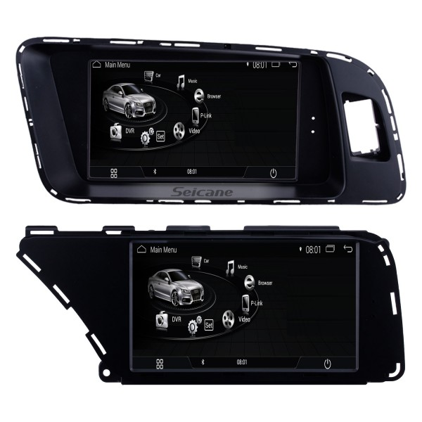 2009-2018 AUDI A4 A5 Q3 Conducción con la mano izquierda Radio de coche Navegación GPS Android 9.0 HD Pantalla táctil 7 pulgadas Estéreo automático 1080P Reproductor de video Bluetooth Teléfono Wifi USB Carplay Control del volante