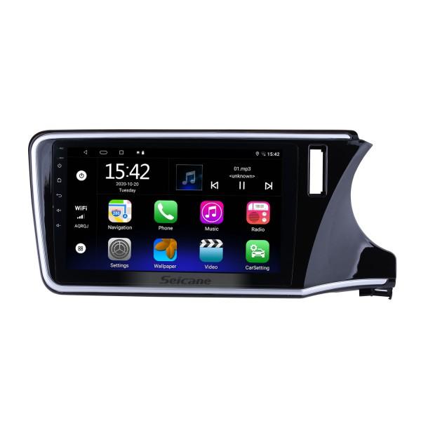 10.2 pulgadas 1024 * 600 de pantalla táctil Android 5.0.1 2014 2015 Honda City Radio con OBD2 TPMS 4G WIFI Bluetooth de la música copia de seguridad de las cámaras digitales de TV de dirección de la rueda de control USB